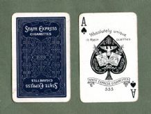 Collectible Cigarette Advertising  playing cards State Express